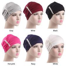 Muslim Women Elastic Hijab Cancer Hat Chemo Turban Wrap Cap Hair Loss Head Scarf