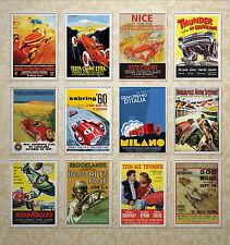 Vintage motor car racing p-pau, le mans, spa, nurburgring, albi, monaco, milan