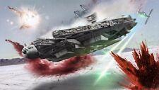 Star Wars The Last Jedi Millennium Falcon Movie Poster Canvas Art Print Sc-Fi