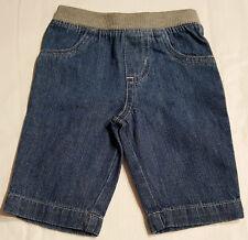 Boys Infant & Toddler Denim Pants-Ribbed Elastic Waist Pull On