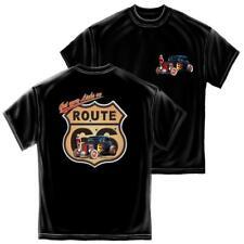 du S au 2XL T-shirt Adulte Route 66 avec Prénom Personnalisé