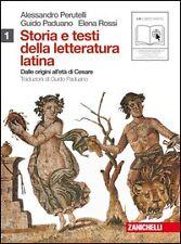 storia e stesti della letteratura latina 1° ZANICHELLI, Perutelli/Paduano/Rossi
