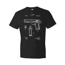 1911 Pistol Patent Shirt 45 Gun Collector Police Gift Gun Club Shirt