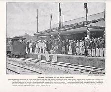 1897 VICTORIAN PRINT ~ FIRST STATE RAILWAY OF SELANGOR MALAY PENINSULA