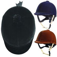 Caldene equestiran Tuta pas015 morbida imbottita in pelle & Cappello da equitazione in velluto di qualità