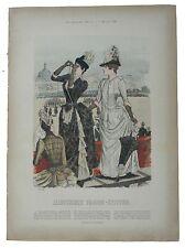Anzug mit blusentaille Illustrirte Frauen Zeitung moda Druck von Carl Marquart