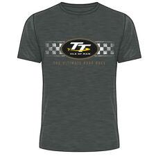 2018 Official Isle of Man TT Races Dark Heather Retro T'Shirt - 18ATS3DH