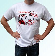 Dinamarca Bandera Fútbol Camiseta Blanca diseño de estilo de fútbol para hombre Mujer Niños Bebé