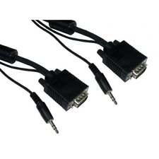 Svga VGA Cordon Audio 3.5 Jack Câble avec dans 1m 2m 3m 5m 10m 15m 20m Longueurs