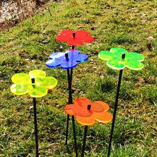SunCatcher: 5x SONNENFÄNGER Blume 10cm Garten Deko Stecker Balkon Terasse Licht