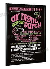 Pink Floyd Concert Poster All Night Garden Party Queens Hall Leeds 1967