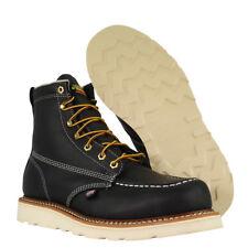 "Thorogood Boots 814-6201 6"" Black Moc Toe American Heritage Made In USA Biker"