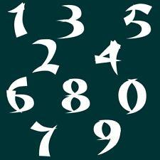 7 cm Zahlen Aufkleber Klebezahlen Ziffern Sticker 1 bis 200 Stück weiß SA-65