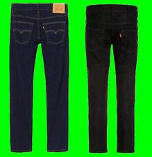 Garçons Original Levi's 510 Skinny Fit Jean Noir Indigo Kids Neuf 3-16 ans
