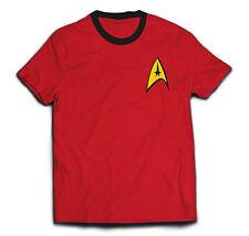 Star Trek Red Engineering Uniform Official Tee T-Shirt Mens Unisex