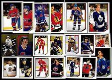 1986-87 OPC O PEE CHEE NHL HOCKEY STICKER 1-253 SEE LIST