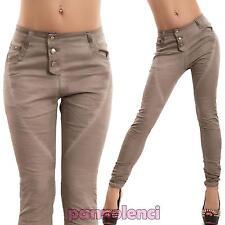 Jeans donna pantaloni slim skinny cavallo basso harem elastici nuovi DQ1075-1