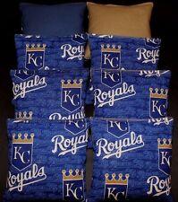 New Kc Royals Cornhole Bean Bags 8 Aca Reg Bags made w Kansas City Mlb Fabric