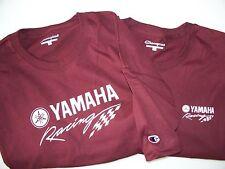 Two Yamaha Racing Screen Printed Maroon Champion T-Shirts 6.1 oz. 100% Cotton