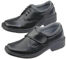 Boys School Shoes Wedding Formal Smart Dress Infant Christening Black Trainer