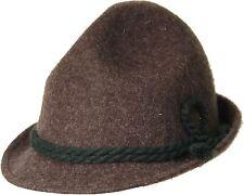 Kinder Trachtenhut Kinderhut Hut Tracht  100 % Wolle + grüner 2fach Kordel braun