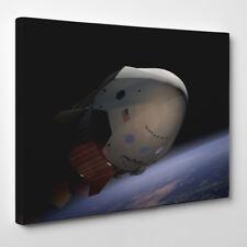 SpaceX Dragon 2 Spacecraft – Framed Canvas Art Print – Rocket Elon Musk space...