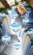 3D Seagulls Falls 42 Floor WallPaper Murals Wall Print 5D AJ WALLPAPER UK Lemon