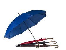 Large Wood Effect Crook Handle Umbrella Brolly Rain Walking Stick Unisex Colour