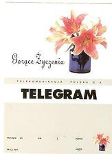 TELEGRAMME POLOGNE FLEURS BOUQUET LYS