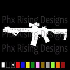 AR-15 Vinyl Decal Sticker Car Window Wall Bumper Gun Assault Rifle M16 5.56 3