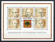 Bundespost Block 18 gestempeld