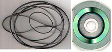 SONY TC-560 TC-560D Reel-to-Reel Belts w/wo a pdf MANUAL on CD & FREE shipping