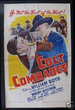 COLT COMRADES * 1SH ORIG MOVIE POSTER WESTERN  1940s
