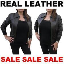 100% Real Leather Exklusiv Angepasst Damen Mädchen Jacke Mantel Bikerstil