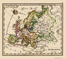Old Europe Map - Stieler 1852 - 23 x 26.04