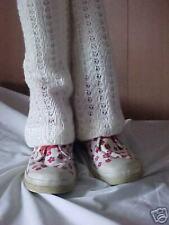 WINTER WHITE WOOL BLEND KNIT LEG WARMERS 14 INCH