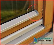 Flügelabdeckprofil für Holzfenster Fensterschutzschiene Aluminium Wetterschenkel