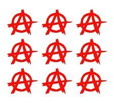 """Anarchy Symbol Vinyl Decals Gun Case Phone Helmet Bike 1.5"""" Stickers Set of 9"""