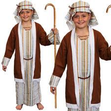 CHILDS SHEPHERD COSTUME NATIVITY BOYS INNKEEPER FANCY DRESS SCHOOL PLAY ROBE