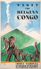 0156 vintage TRAVEL poster arte AIR FRANCE AFRIQUE occidentale