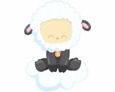 Süßes Schaf auf Wolke Aufkleber Sticker Autoaufkleber Scheibenaufkleber