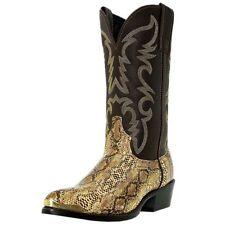 Laredo Western Boots Mens Cowboy Monty Faux Snake Golden Copper 68068