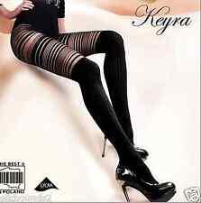 Gabriella Keyra TIGHTS MOCK Over the Knee & Sheer Striped Upper Thighs EUROPEAN