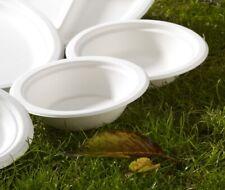 Biodegradable Paper Bowls Bagasse Sugarcane White Starter Dinner Dessert