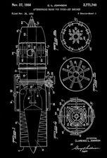 1956 - Lockheed Afterburner For Turbo-Jet Engines - Johnson - Patent Art Poster