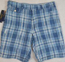 "Polo Ralph Lauren Classic Fit 9"" India Madras Plaid Linen Shorts 30 32 33 34 NWT"