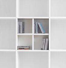 CD Fach Einsatz f. Ikea Kallax Expedit / CD-Regal / CD Kreuz / CD-Fach / weiß