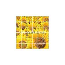 Adesivo piastrelle mural, maiolica,decocrazione cucina ou bagno Girasole ref 843