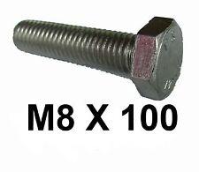 M8 x 100 en acier inoxydable boulons hex / jeu de vis 8 mm x 100 mm acier inoxydable boulons
