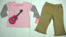 New Carter's Girls Pink & Brown 2-Piece Pant Set